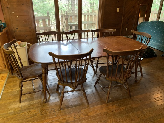 Table with Rod Back Chairs