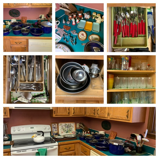 Cleat out of Kitchen -  Pots, Pans, Utensils, Microwave, Dishes & More