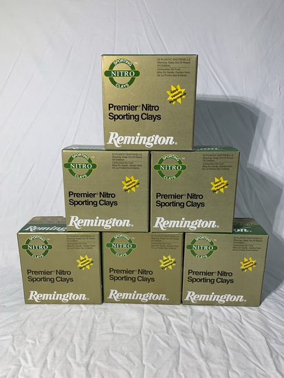 6 Boxes of Premier Nitro Sporting Clays Rounds for a 12 Gauge.