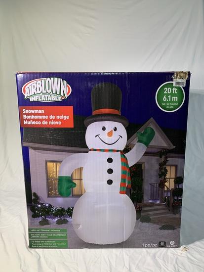 Airblown Inflatable Snowman.  See Photos.