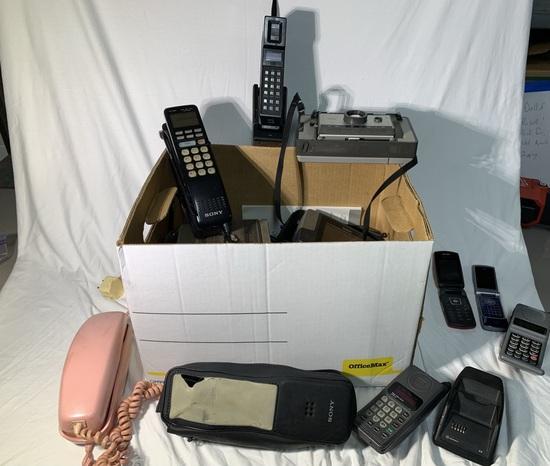 Great Group of Vintage Mobile Phones, Brownie Camera & More