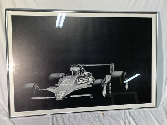 Racing John Player Signed and Numbered Framed Print