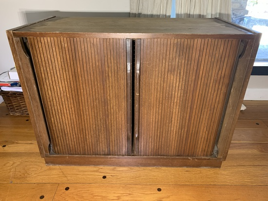 Tambour Front Stereo Cabinet