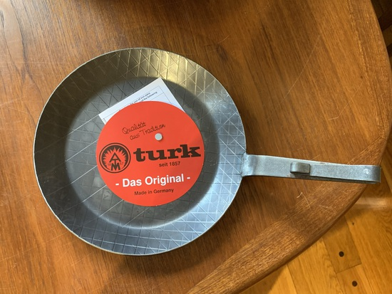 Turk Das Original German Made Forged Iron Skillet