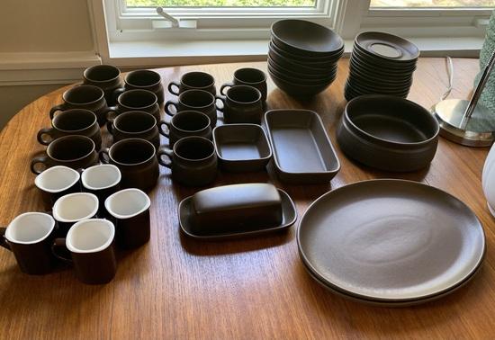 Langley English Made Modern Stoneware Dining set