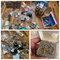 Large lot gold, silver, costume jewelry