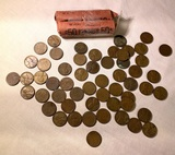 Group of Wheat Pennies Coins