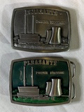 2 Collector Belt Buckles - Nuclear Plants