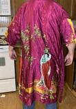 Silk Kimono and Vintage Handkerchiefs