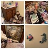 Bathroom Cleanout - Blood Pressure Cuff, Seahorse and Fish Cut Out & More