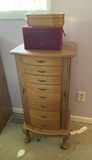 Jewelry Cabinet & 2 Jewelry Boxes