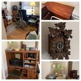 Office Chair, Desk, Soft Goods, CUCKOO Clock, Entertainment Stand & More