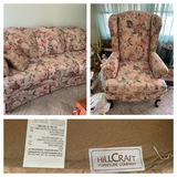 Hillcraft Furniture Company Sofa and Armchair