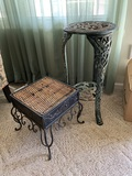 Plant Stand & Footstool