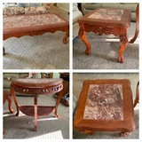 Coffee table, 2 Side Tables & Entry Table.  See Photos
