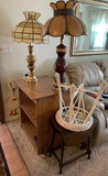 2 Lamps, T.V, Stand, Foot Stool, Canes & More