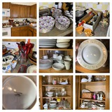 Kitchen Clean Out - China, Utensils, Pans, Pots, Glassware & More