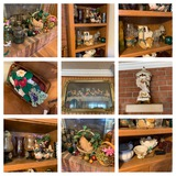 Decorative Items & Shelving Unit