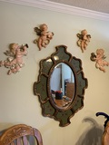 Mirror with Decorative Angles
