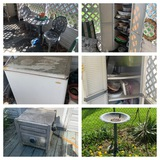 Back Porch Clean Out - Plastic Bistro Set, Storage Cabinets, Freezer in Working Order & More