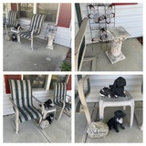 2 Patio Chairs, Plant Stand, Patio Table & More