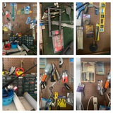Back Wall Right Side Garage Clean Out - Peg Board with Contents, Organizers & More