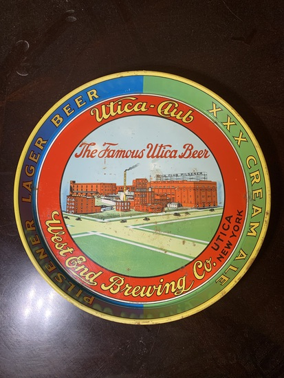 Utica - Club West End Brewing Co. Metal Tray.
