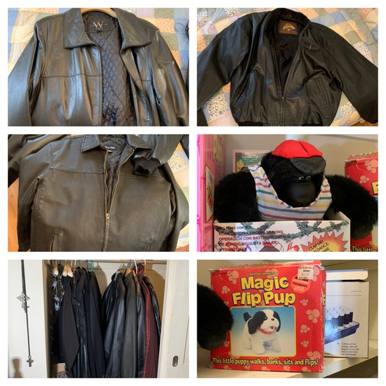 Closet Clean Out - Great Leather Coats, Vintage Toys, & More.  See Photos