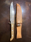 Sabre 631 Japan Bowie Knife with a Case XX Leather Sheath