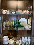 Contents of China Cabinet - Beautiful Stemware, Candle Holders, Northridge China & More