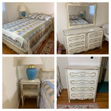 Full Size Bed, Night Stand, Chest of Drawers, & Dresser