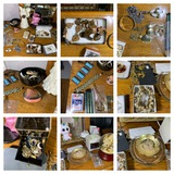 Group of Costume Jewelry, alarm Clock, Snow Globe and More