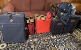 Group of Luggage, Shoes & Books