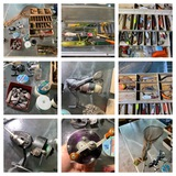 Great Group of Fishing Items - Reels, Net, Lures & More