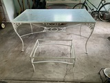 Patio Table and Side Table