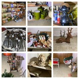 Great Basement Cleanout - Holiday Items, VIntage Items, Hardware, Flatware & More