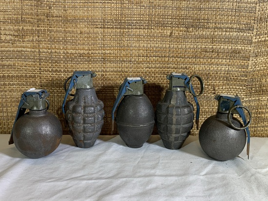 5 Deactivated Military Grenades.