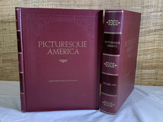 Picturesque America Centennial Edition Books .  Volume One & Two.