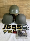 Military Helmets & Patches.