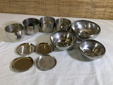 Pewter Coasters, Bowls & Cups by Jefferson Cup made in Holland .
