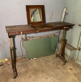 Unusual Stickley Brothers Industrial Table.