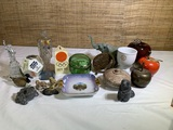 Vintage 1950s Small Clear Anatomical Model of Human Body, Eigl Ashtray,  Bank & More.
