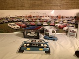 Great Group of VIntage BMW Items - Large Flag, Frame, Photo & More.