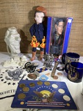 Presidential Group - Hall China Ronald Reagan Presidential Teapot, George Bush Dolls, & More.