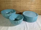 Vintage Melmac Boonton Bowls and Plates.