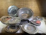 Large Group of Pewter Items by - Wilton & York Metalcrafters.