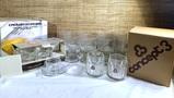 Glasses Concept 3 Set in Box, Servizio Caffe Mina Set Complete in Box,Crown Corning & More