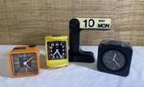 MCM Clocks and Desk Calendar by - Emes Electronic, Goldbuhl, & Jerger Ranger.