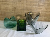 Viking Glass and 2 Pieces of Art Glass.
