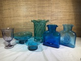 Possibly Blenko art glass and more lot